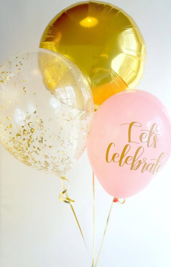 Gold & Pink Celebrate Balloons