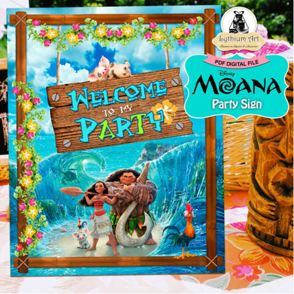 Moana-Party-Sign