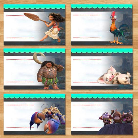 moana-tent-food-cards